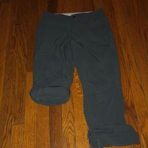 REI Gray Co-op Sahara Roll-Up Pants Cropped 2P